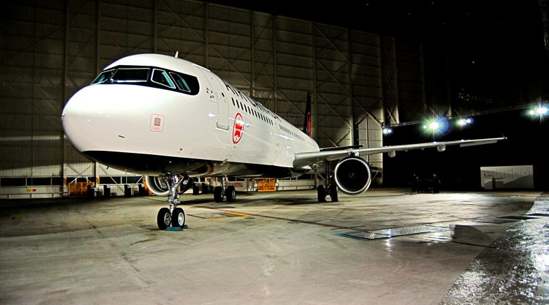 Air Canada's new livery on a A321