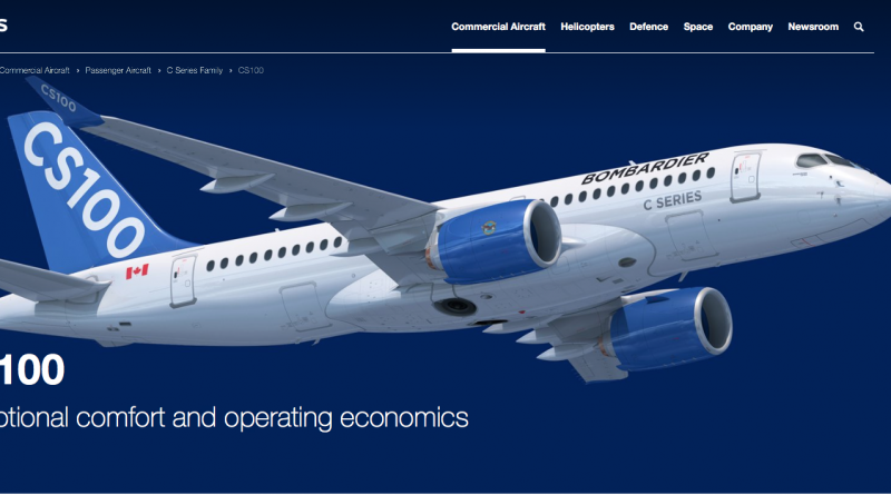 CS100 page on Airbus website