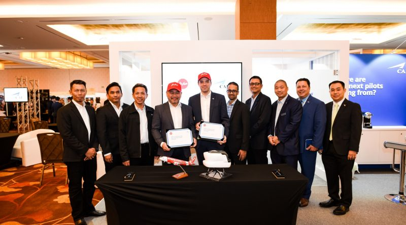 Air Asia and CAE signed a 5 years contract for the training of cadets to MPL