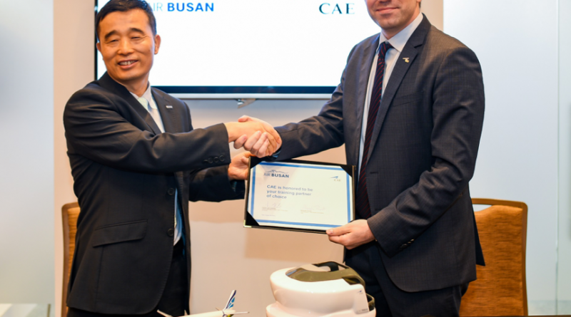 Air Busan and CAE ink a training deal