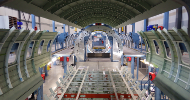 Assembling a Global 7500 fuselage