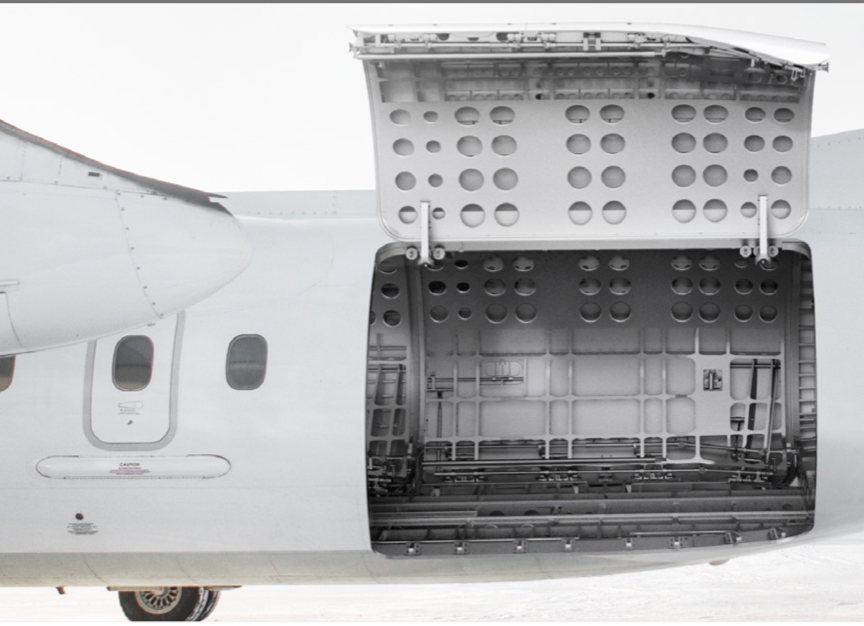 A view of what the cargo door will look like