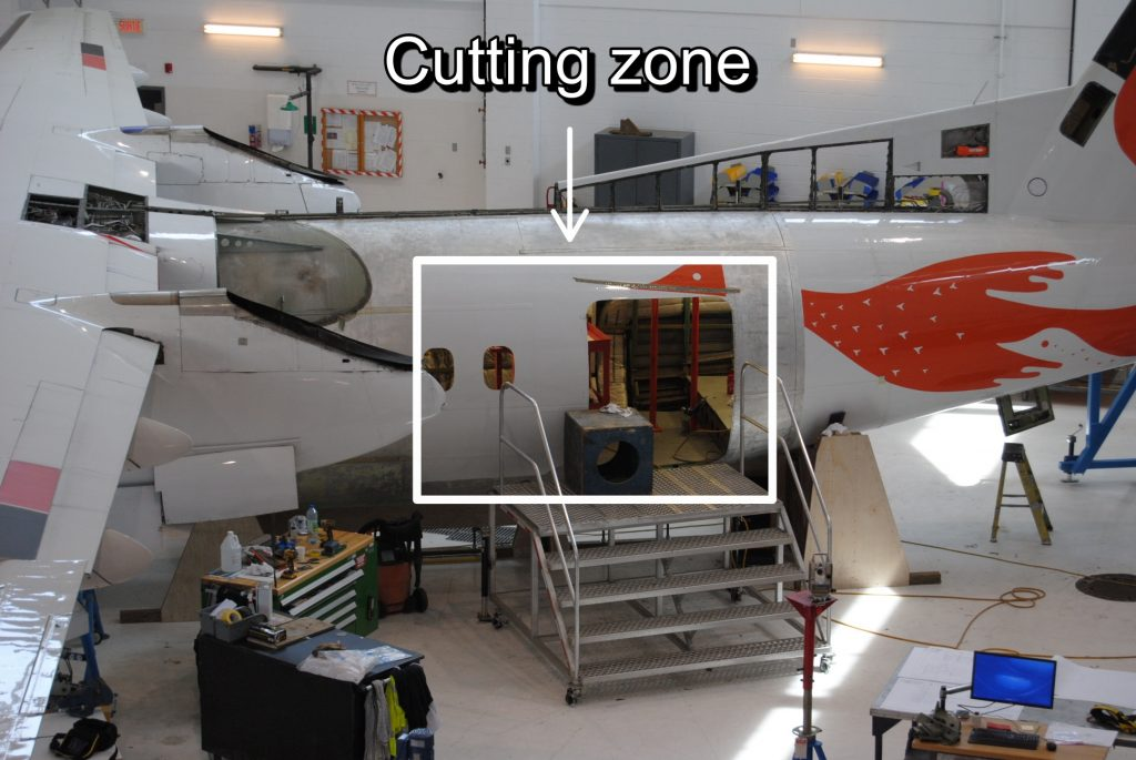 Cutting zone