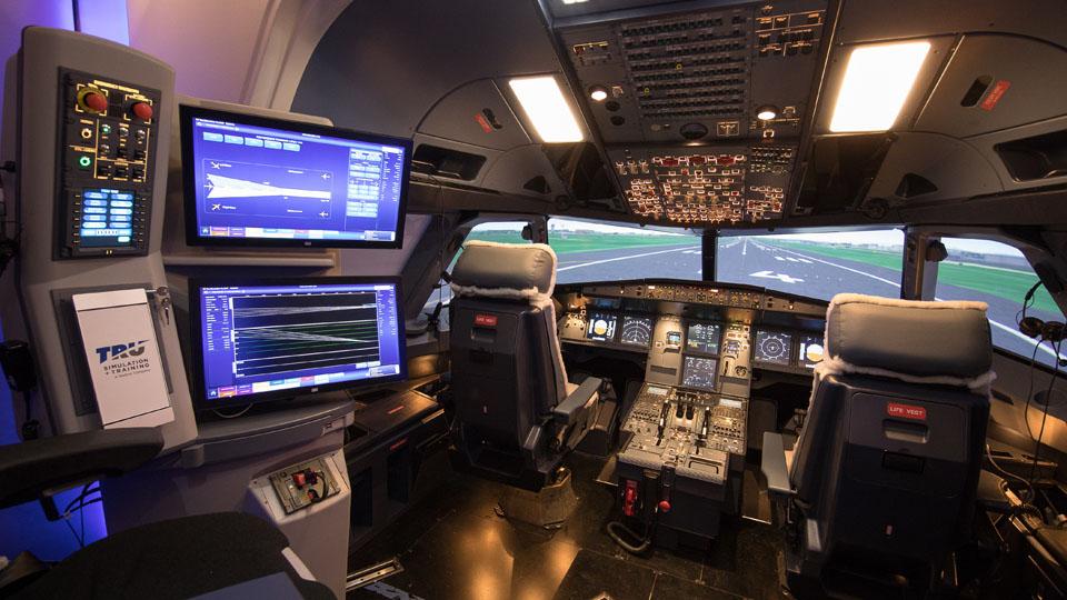 A320 simulator interior