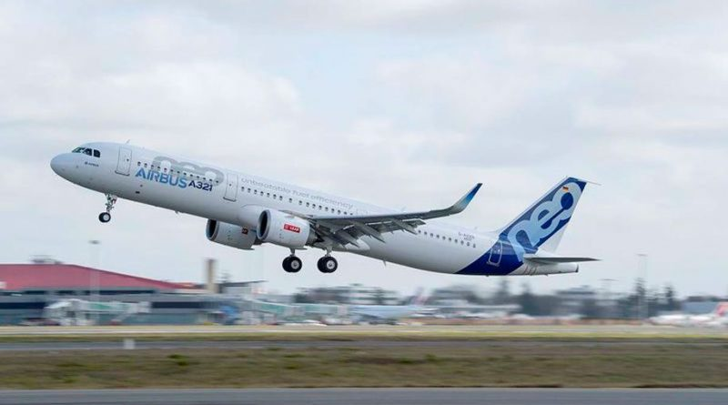 Airbus A321NEO LR taking off from Toulouse