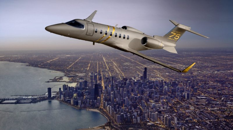 Thgis is a promotion picture of the Learjet 75 Liberty