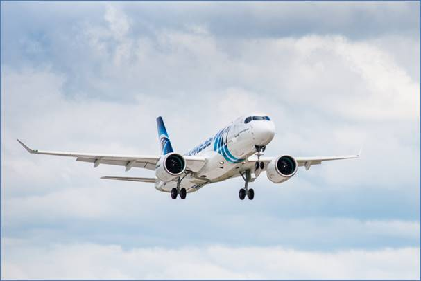 A220-300 EgyptAir first flight