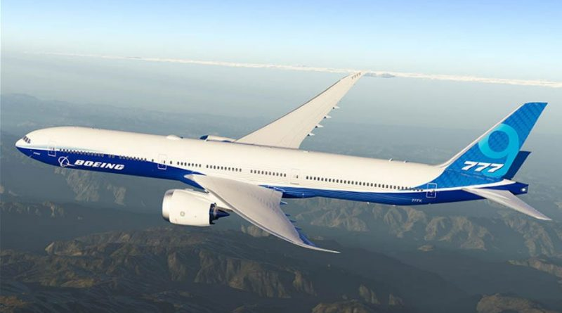 Flying the B777X simulator