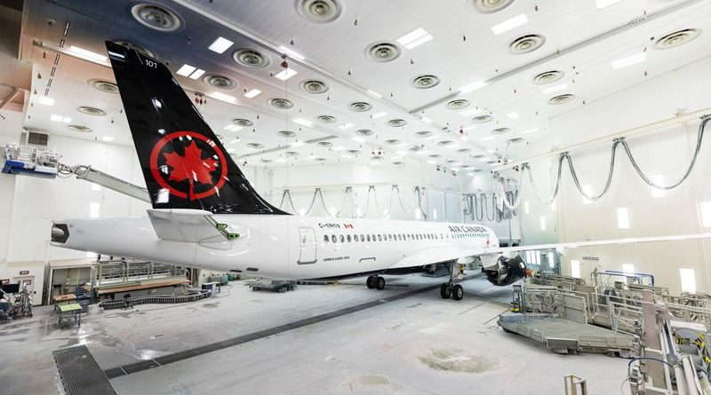 A220-300 Air Canada - paintshop-rollout