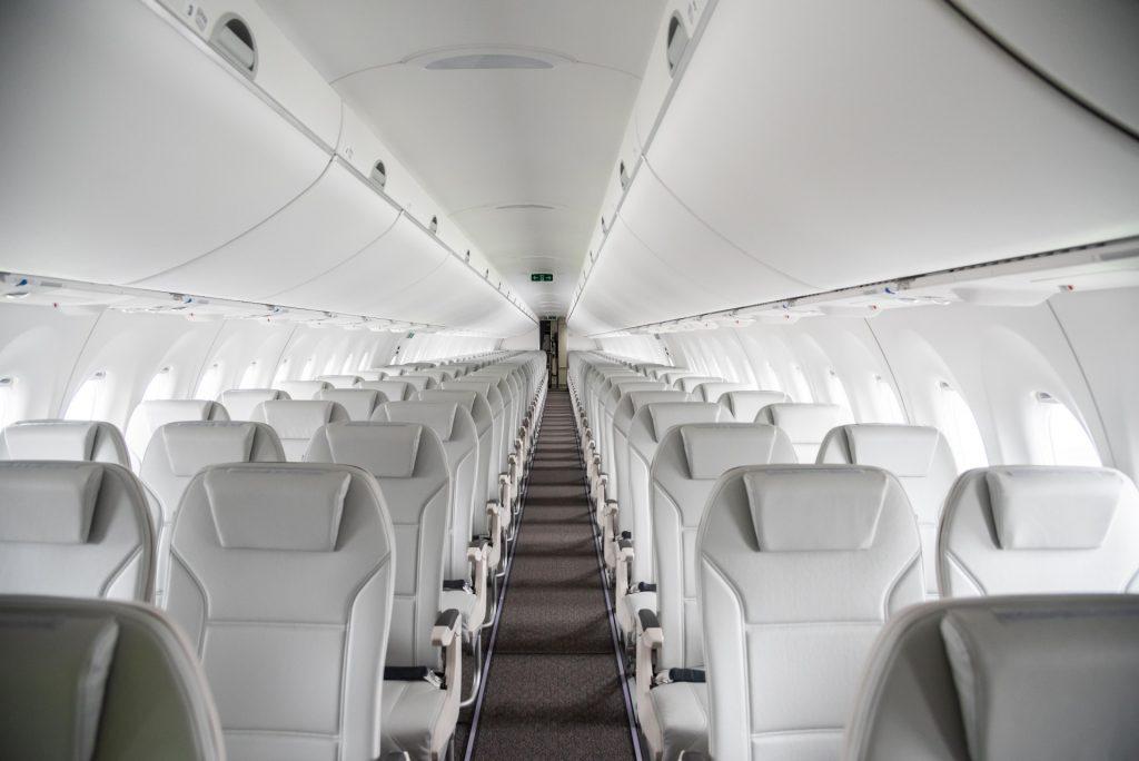 Air Baltic's A220 interior