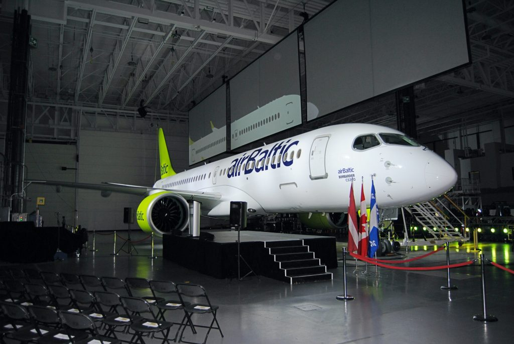 Air Baltic's first A220-300 just before delivery