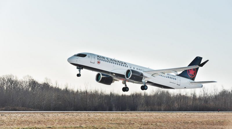 Air Canada's first A220-300 first flight
