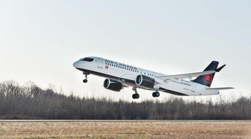 Air Canada's first A220-300 first flight