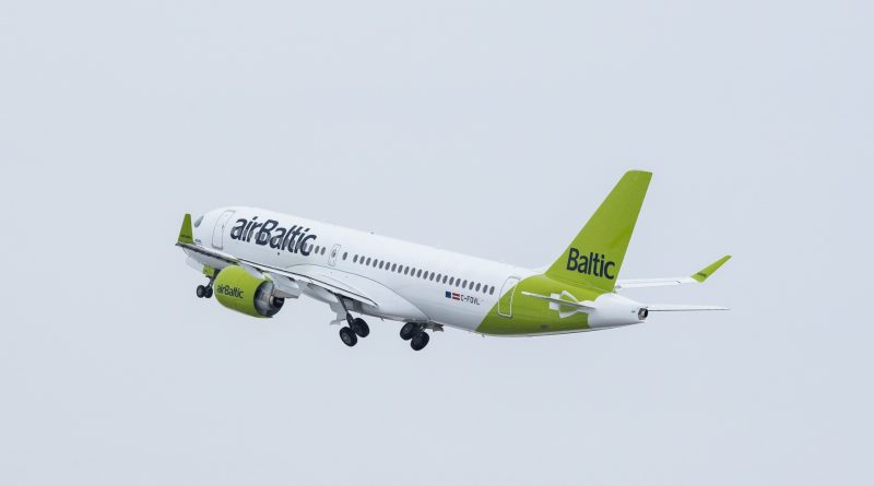Air Baltic 21st A220-300 first flight
