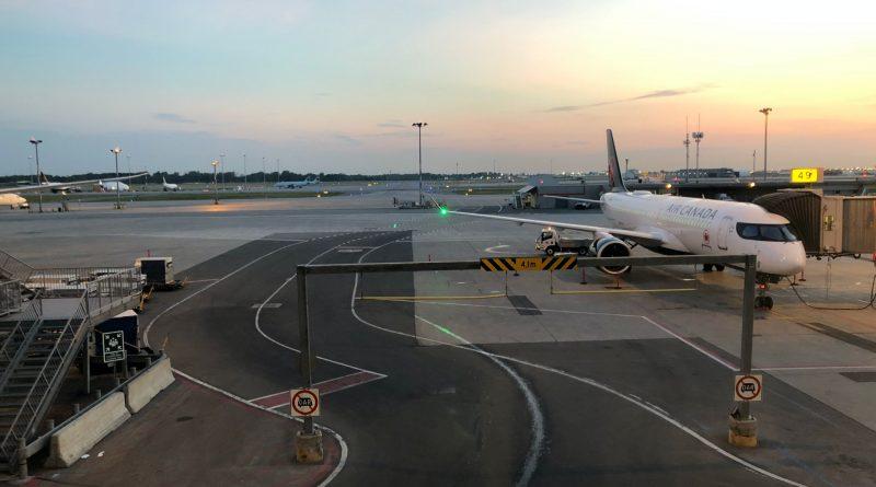 Air Canada A220-300 at the gate